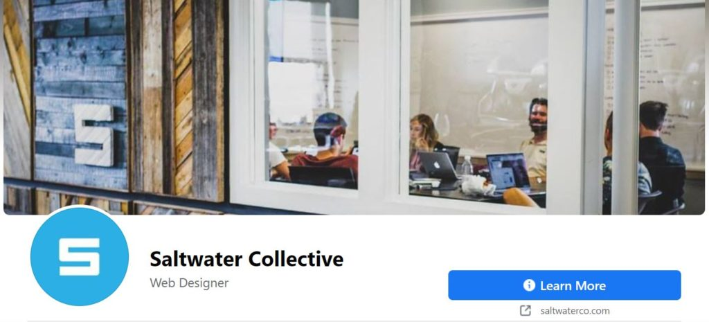 View Saltwater's page to see where your profile image and cover photo live on the page.